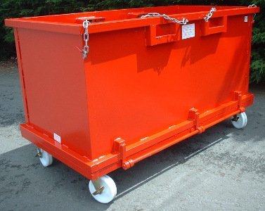 Forklift Drop Bottom Stillage 2.00 cu.m with wheels