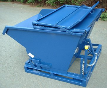 Tipping Skip 0.50 cu.m. with steel lid