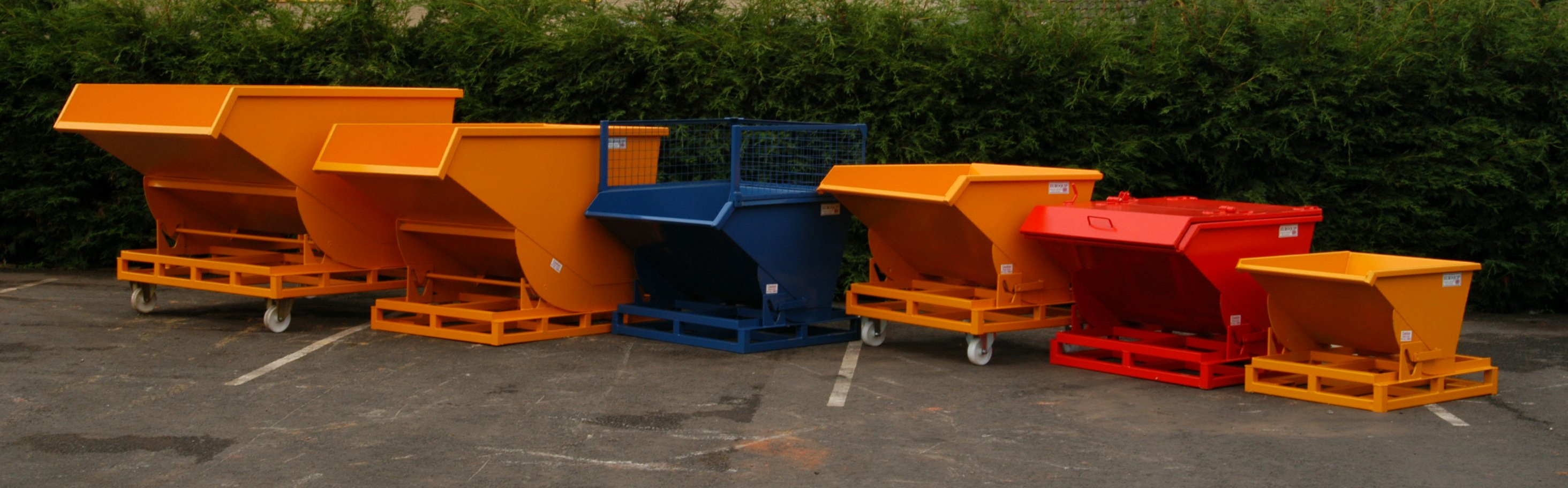 Euroquip's range of Forklift Tipping Skips