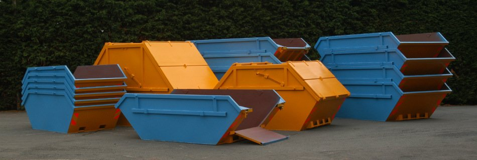 Waste Skips Stacked